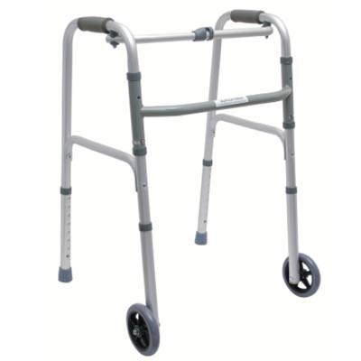 Nasonta Walker with Wheels – Light Weight, Height Adjustable & Folding